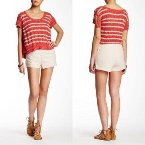 FREE PEOPLE Newman Textured Shorts Size 4